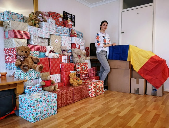 Iulia's huge heart – from UK, collecting donations for children in need from Romania and Moldova